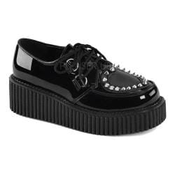 Women's Demonia Creeper 108 Creeper Black Patent/PVC