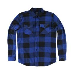Men's O'Neill Superfleece Glacier Check Flannel Shirt Blue