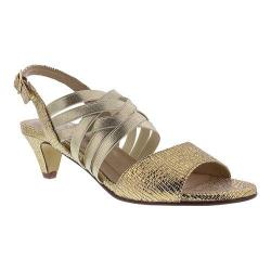 Women's Rose Petals by Walking Cradles Lively Slingback Rose Gold Lizard Print
