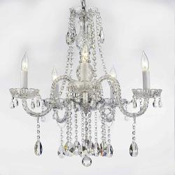 """AUTHENTIC ALL CRYSTAL CHANDELIERS LIGHTING CHANDELIERS H27"""" X W24"""""""