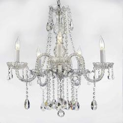 Swarovski Crystal Trimmed Chandelier! Authentic All Crystal Chandeliers Light...