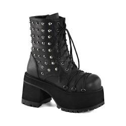 Women's Demonia Ranger 208 Ankle Boot Black Vegan Leather