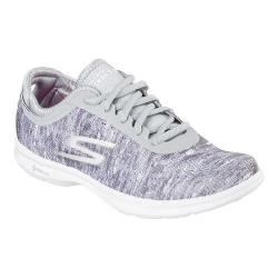 Women's Skechers GO STEP One Off Lace Up Gray/White