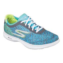 Women's Skechers GO STEP One Off Lace Up Gray/Blue