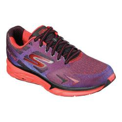 Men's Skechers GOrun Forza NYC Marathon 2015 Lace Up Shoe Red/Purple