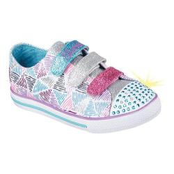Girls' Skechers Twinkle Toes Chit Chat Sparkle Express Sneaker White/Multi