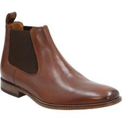 Men's Bostonian Narrate Plain Toe Chelsea Boot Tan Leather