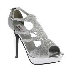 Women's Dyeables Irie T-Strap Platform Sandal Silver Shimmer
