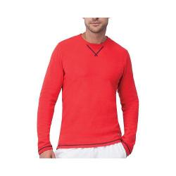 Men's Fila Stoke Waffle Long Sleeve Crew Chinese Red/Peacoat