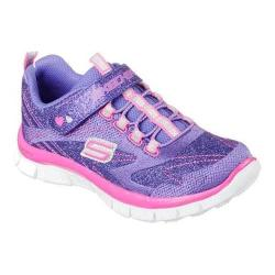 Girls' Skechers Skech Appeal Hi Shine Sneaker Purple/Neon Pink