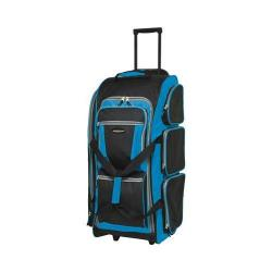 Travelers Club Xpedition 30in Multi-Pocket Sports Rolling Duffel Neon Blue