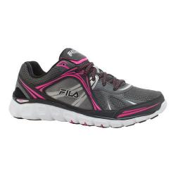 Women's Fila Memory Retribution Running Shoe Black/Dark Shadow/Pink Glow