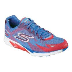 Men's Skechers GOrun 4 Houston 2016 Lace Up Shoe Red/Blue