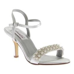 Women's Dyeables Anabelle Ankle Strap Sandal White Satin