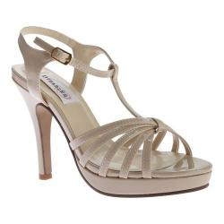 Women's Dyeables Kaylee T-Strap Platform Sandal Nude Patent