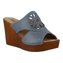 Women's Spring Step Beshka Slide Blue Leather