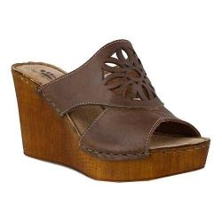 Women's Spring Step Beshka Slide Brown Leather