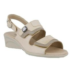 Women's Spring Step Faison Slingback Beige Multi Leather