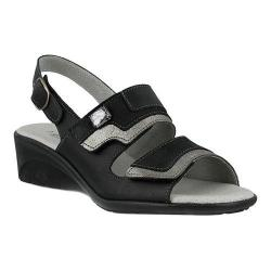 Women's Spring Step Faison Slingback Black Multi Leather