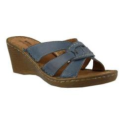 Women's Spring Step Idoia Slide Blue Leather