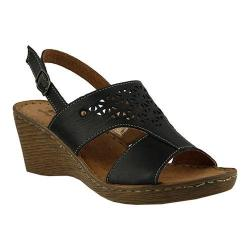 Women's Spring Step Katia Slingback Black Leather