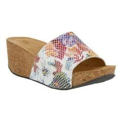 Women's Spring Step Vivi Slide Floral Leather