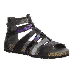 Women's Think! Dufde 86397 Gladiator Sandal Black/Kombi Material Mix