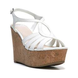 Women's Fergalicious Roxine Sandal White Synthetic Leather/Cork