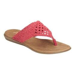 Women's A2 by Aerosoles Chlutch Flip Flop Coral Crochet Fabric