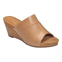 Women's A2 by Aerosoles Light N Sweet Wedge Sandal Nude Faux Leather