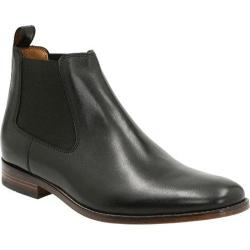 Men's Bostonian Narrate Plain Toe Chelsea Boot Black Leather