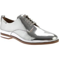 Women's Calvin Klein Camella Oxford Silver Metallic Leather
