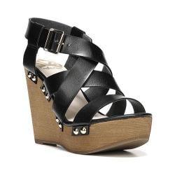 Women's Fergalicious Libby Sandal Black Synthetic Leather