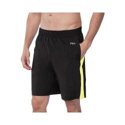 Men's Fila Momentum Short Black/Safety Yellow