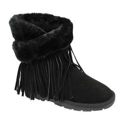 Women's Lamo Fringe Wrap Black