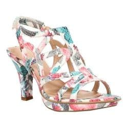Women's Naturalizer Danya Sandal Cream Multi Floral Glossy Printed Snake Fabric