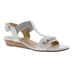 Women's Rose Petals by Walking Cradles Jasmine T Strap Sandal White Nappa