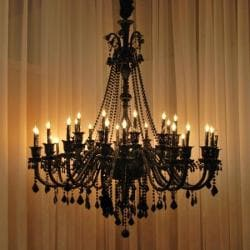 New! Large Foyer / Entryway JET Black Gothic Crystal Chandelier Chandeliers Lighting