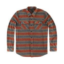 Men's O'Neill Superfleece Glacier Stripe Shirt Rust Brown
