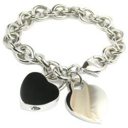 Heart Tag Heart Lock Charm Bracelet