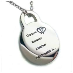 "The Love Between a Mother and Daughter is Forever Pendant Necklace with 18"" Chain"
