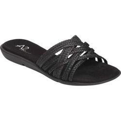 Women's A2 by Aerosoles Saving Grace Slide Sandal Black Combo Faux Leather