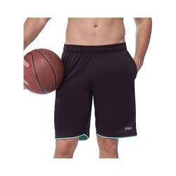 Men's Fila Focus Short Black/Lucite Green