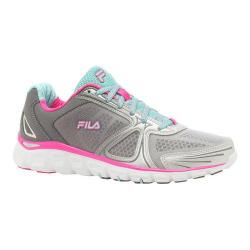 Women's Fila Memory Solidarity Running Shoe Pewter/Aruba Blue/Pink Glow