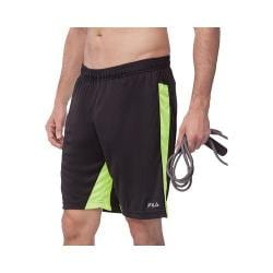 Men's Fila Pure Energy Short Black/Safety Yellow