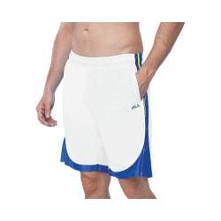 Men's Fila Wing Man Short White/Royal Blue/Neon Green
