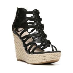 Women's Fergalicious Vienna Strappy Sandal Black Synthetic Leather