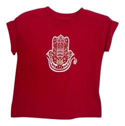 Boy's Hamza Hand Red Short Sleeve Graphic Tshirt