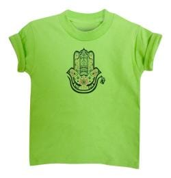 Boy's Hamza Hand Lime Green Short Sleeve Graphic Tshirt