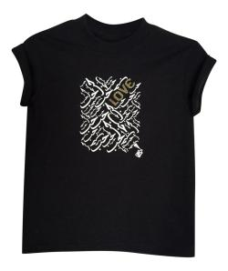 LITTLE GIRL'S LOVE TEE- BLACK